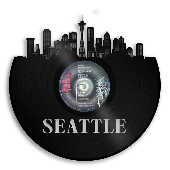 Unique Vinyl Wall Clock Seattle