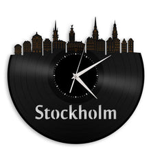 Unique Vinyl Wall Clock Stockholm