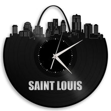 St Louis Skyline Vinyl Wall Clock - VinylShop.US