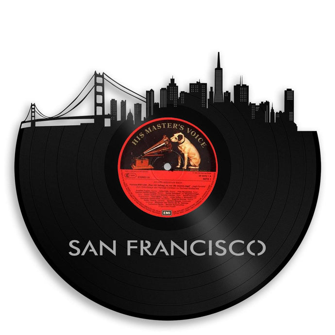 San Francisco Skyline Vinyl Wall Art - VinylShop.US