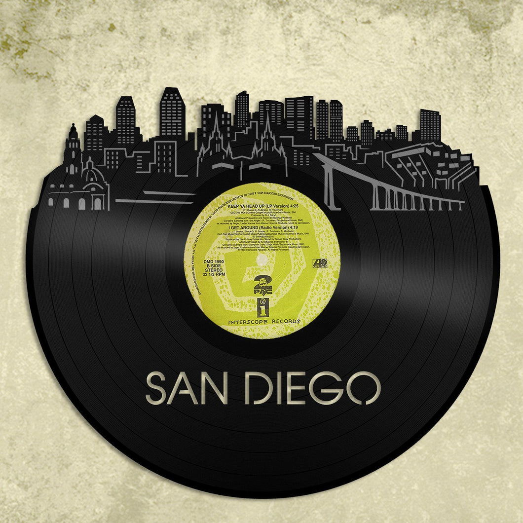 San Diego Skyline Vinyl Wall Art Updated – VinylShop.US