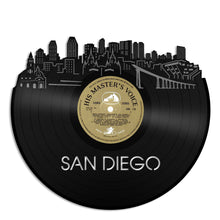 San Diego Skyline Vinyl Wall Art Updated - VinylShop.US