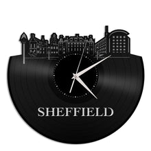 Sheffield Skyline Vinyl Wall Clock - VinylShop.US