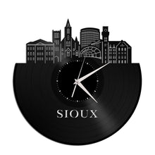 Sioux City IA Vinyl Wall Clock