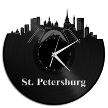 St Petersburg Skyline Vinyl Wall Clock - VinylShop.US