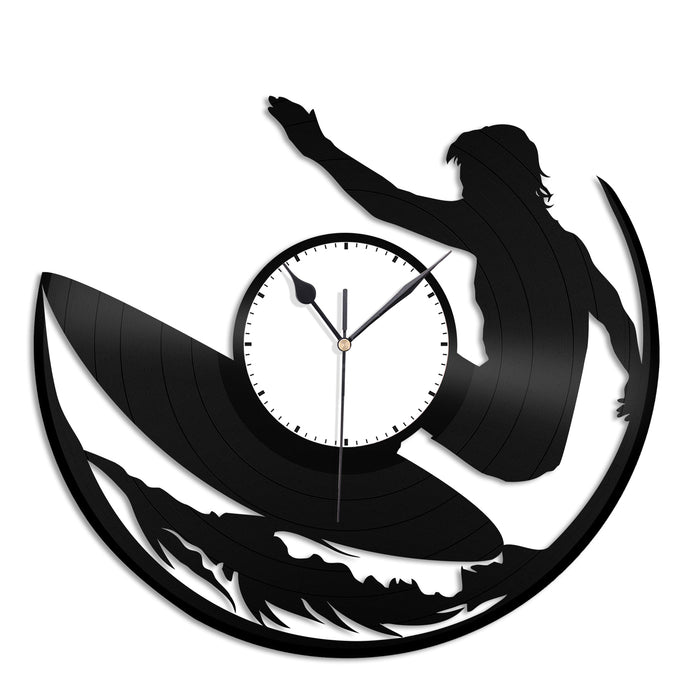 Surfing Vinyl Wall Clock