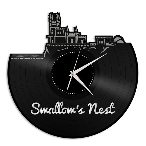 Swallow's Nest Vinyl Wall Clock
