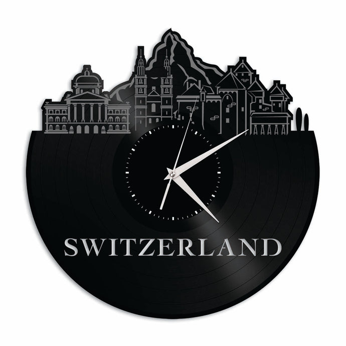 Switzerland Vinyl Wall Clock