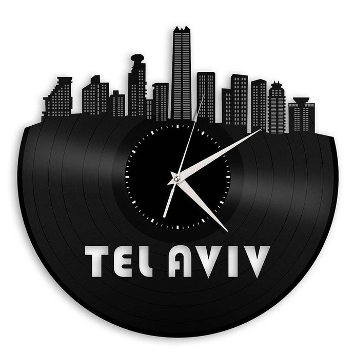 Unique Vinyl Wall Clock TELAVIV