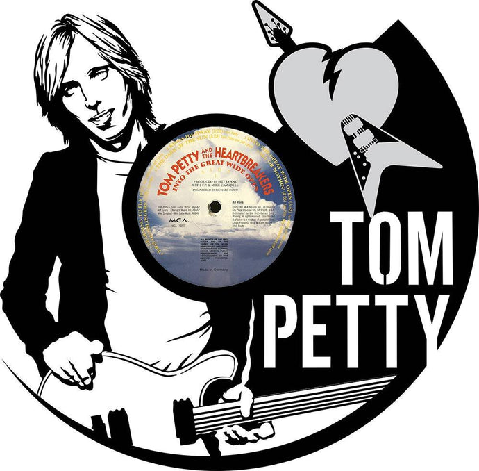Unique Vinyl Wall Clock Tom Petty