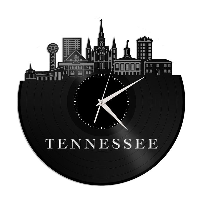 Tennessee Skyline Vinyl Wall Clock - VinylShop.US