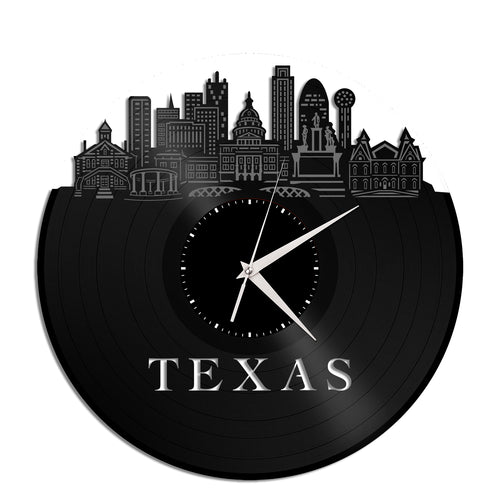 Texas Vinyl Wall Clock - VinylShop.US