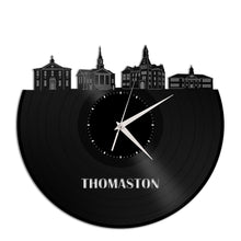 Thomaston Skyline Vinyl Wall Clock - VinylShop.US