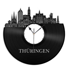 Thuringia Skyline Vinyl Wall Clock - VinylShop.US
