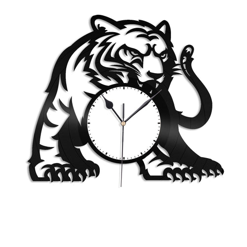 Tiger Vinyl Wall Clock - VinylShop.US