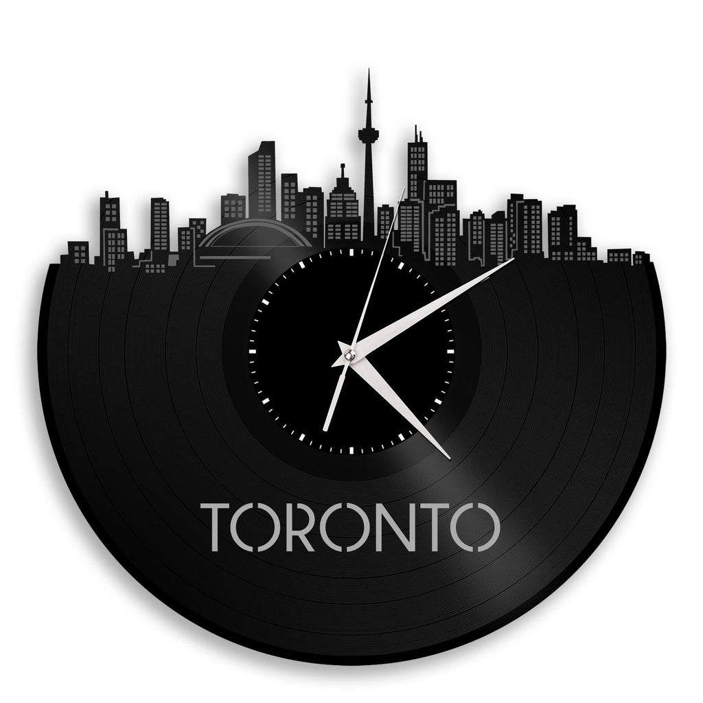Toronto Vinyl Wall Clock City Skyline Unique Gift Office Home Decor