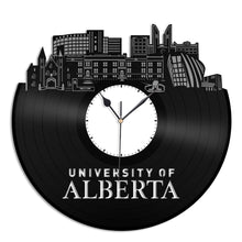 University of Alberta Vinyl Wall Clock - VinylShop.US