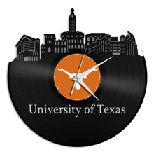 University of Texas Vinyl Wall Clock - VinylShop.US