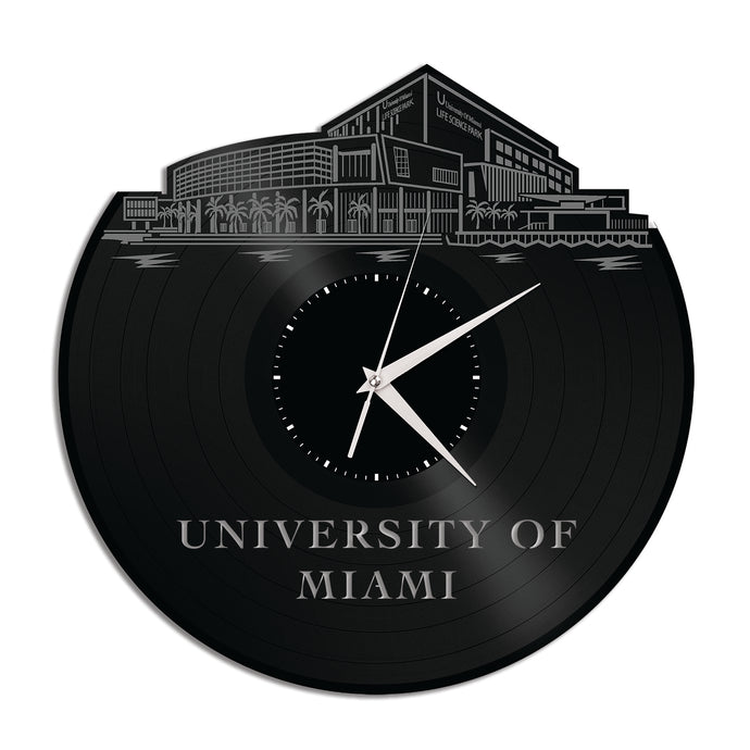 University of Miami Vinyl Wall Clock