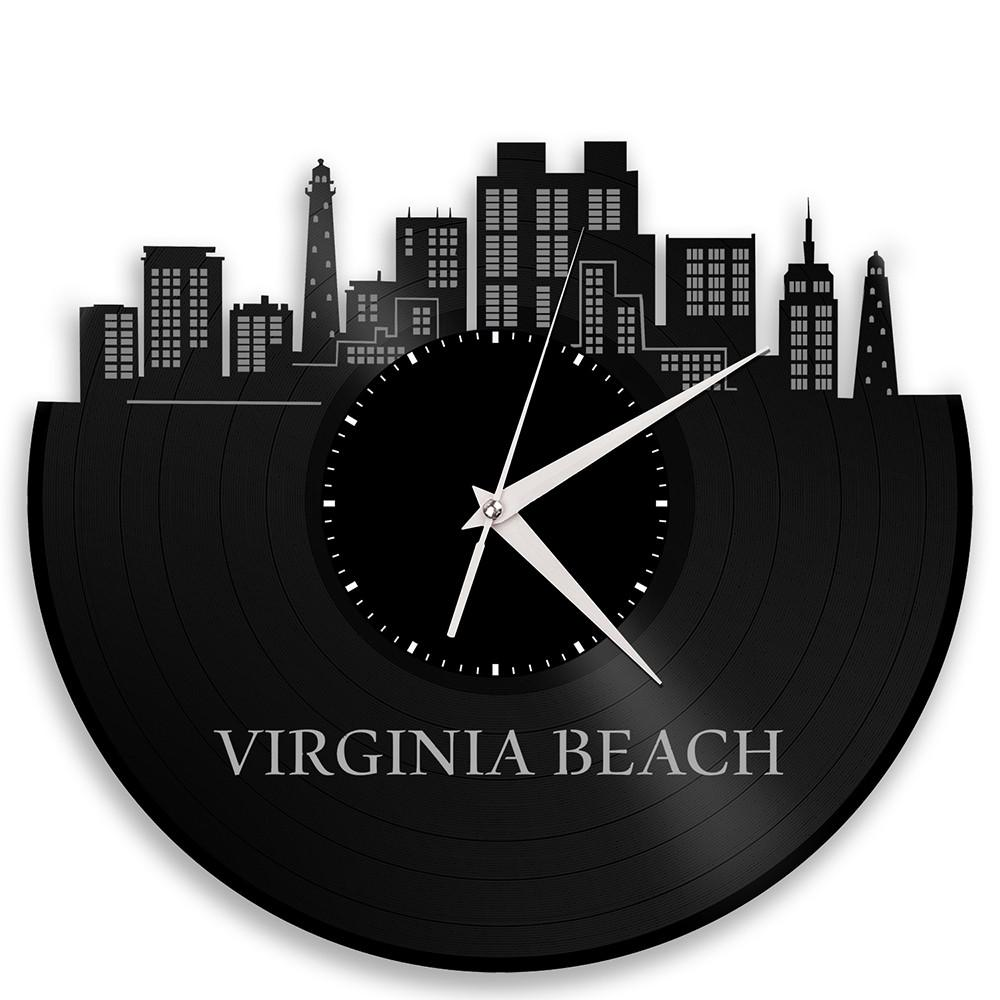 Unique Vinyl Wall Clock Virginia Beach