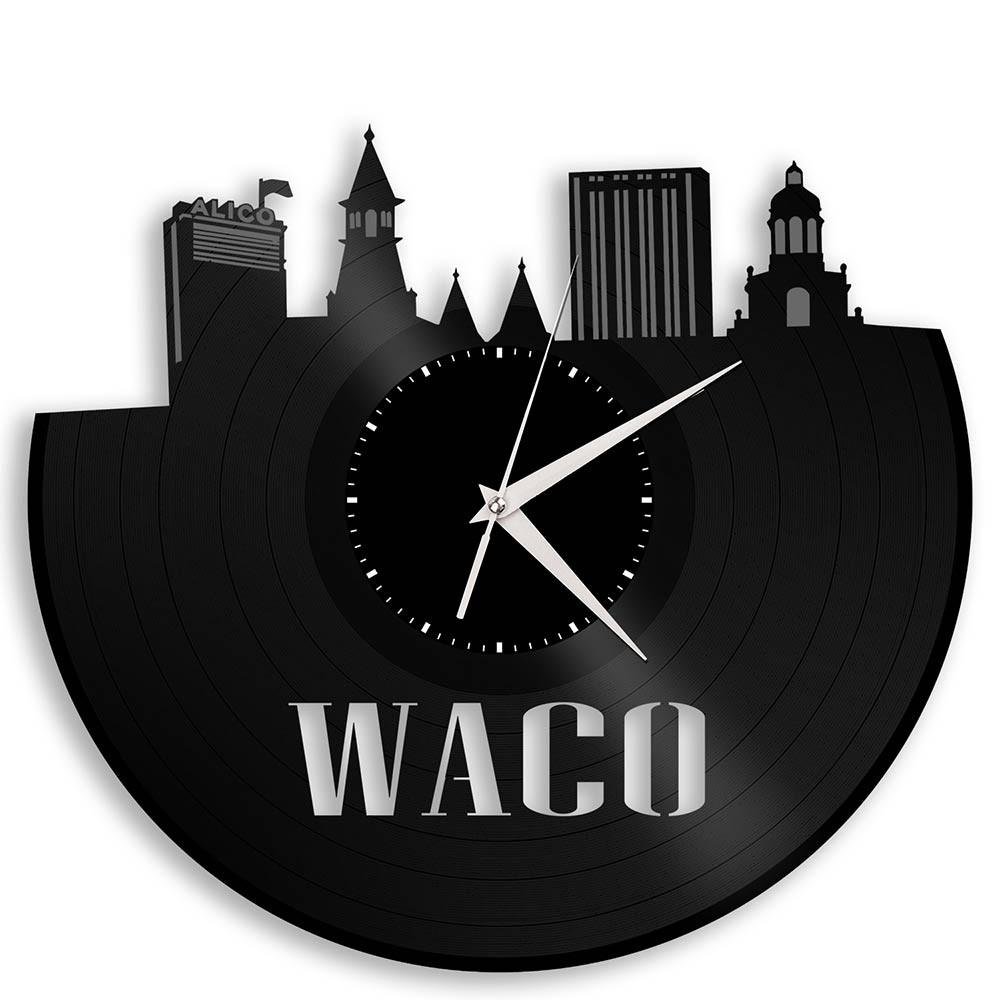 Unique Vinyl Wall Clock Waco
