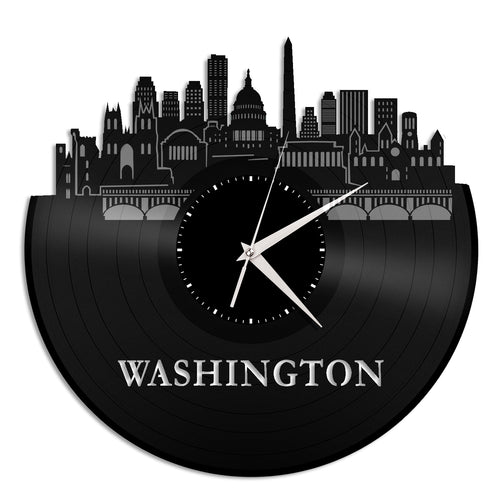 Washington DC Vinyl Wall Clock Updated - VinylShop.US