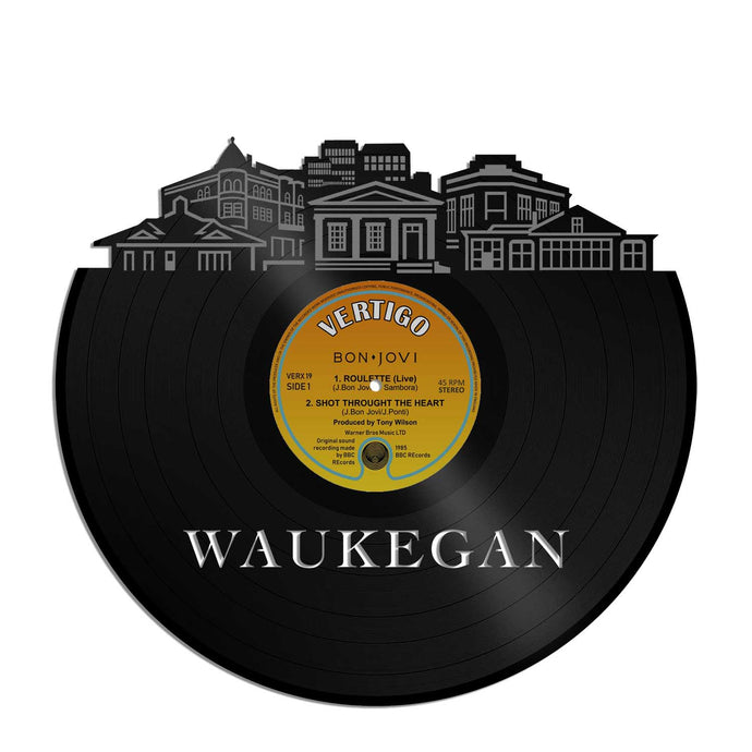 Waukegan IL Vinyl Wall Art