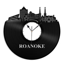Roanoke, VA Vinyl Wall Clock