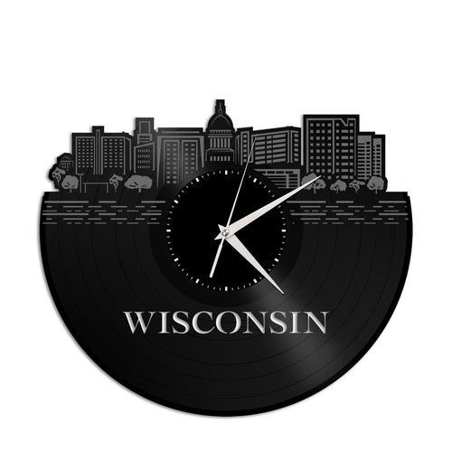 Wisconsin Vinyl Wall Clock