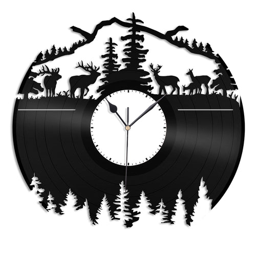 Wooden scene Vinyl Wall Clock