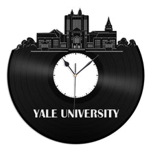 Yale University Skyline Vinyl Wall Clock - VinylShop.US