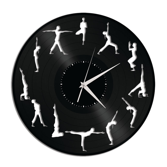 Yoga Vinyl Wall Clock New Designs