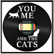 You and Me and the Cats Vinyl Wall Art