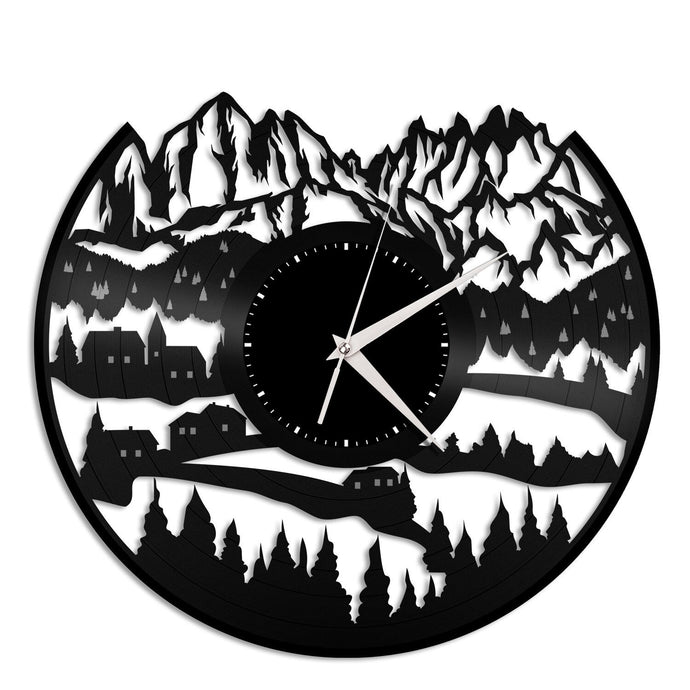 Alps Mountain Vinyl Wall Clock - VinylShop.US