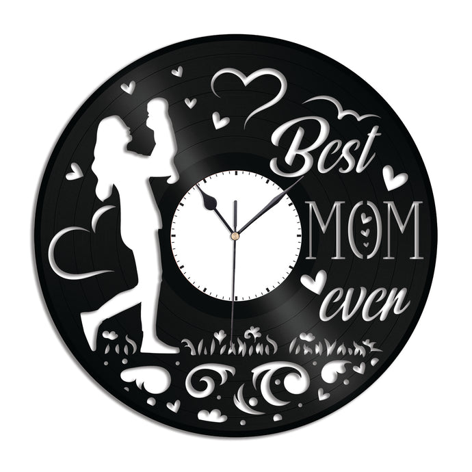 Best Mom Ever Vinyl Wall Clock