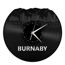 Burnaby Skyline Vinyl Wall Clock - VinylShop.US