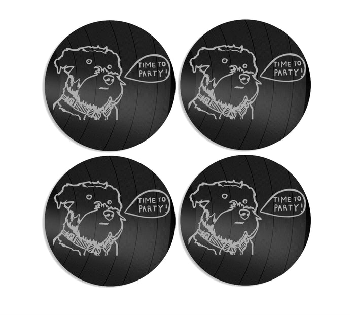 Dog coasters etched x 6 pieces - VinylShop.US