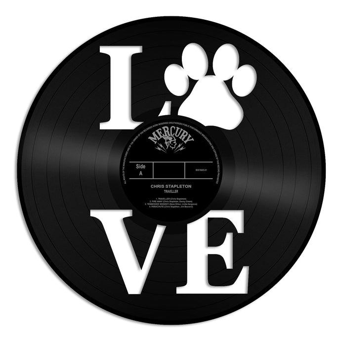 Dog Love Paw Vinyl Wall Art