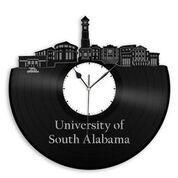 University of South Alabama Vinyl Wall Clock - VinylShop.US