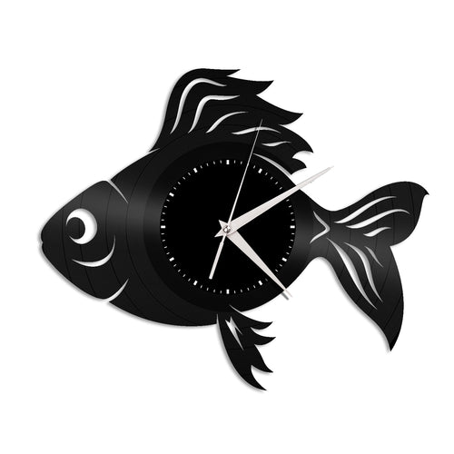 Gold Fish Vinyl Wall Clock - VinylShop.US