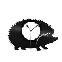 Hedgehog Vinyl Wall Clock - VinylShop.US