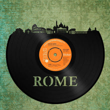 Old Album Art, Unique Skyline, Wall Art Boyfriend, Trendy Wall Hanging, Roman, Wall Art Husband, Detailed City Art, Rome Skyline Art Fan - VinylShop.US