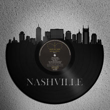 Nashville Art, Best Framed Art Vintage Wedding Gift For Couple, Nashville Skyline, Unique Birthday Gift For Wife For Sister, Tennessee State - VinylShop.US