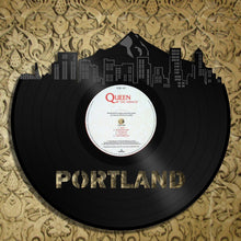 Mountain, Portland Mountains Skyline Wall Art, Oregon Mountain Cityscape, Portland Skyline Decor, Personalized Vinyl Record Wall Art - VinylShop.US