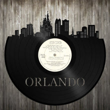 Skyline Wall Art - Orlando Skyline,Orlando Cityscape,Vinyl Record Art, Vinyl Record, Home Decor,Bachelor gift,Orlando Wedding,Orlando record - VinylShop.US