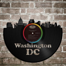 Washington DC Wall Art Washington DC Record Vinyl Art Retro Album Art DC Wall Art Unique Gift Ideas Gift For Him Washington Lover Gift - VinylShop.US
