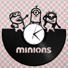 Minions Clock, Minion Record Clock, Kids Room Decor, Funny Clock, Anime Gift, Vinyl Clock, Record Clock, Gift for Kids, Cartoon Decor - VinylShop.US