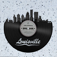 Skyline Wall Art - Louisville Skyline, Cityscape, Vinyl Record Art,  Home Decor, Louisville Wedding, Illustration, Repurposed record - VinylShop.US