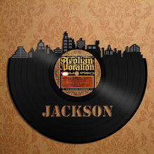 Skyline Wall Art - Jackson Skyline, Vinyl Record Cityscape, Vinyl Record Art,  Home Decor,  Bachelor gift, Jackson Wedding, wall decor - VinylShop.US