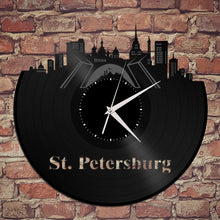 Panoramic Wall Art - Russian Watch, St Petersburg Skyline Wall Clock, Saint Petersburg Russia, World Clocks, International Travel Gift Idea - VinylShop.US